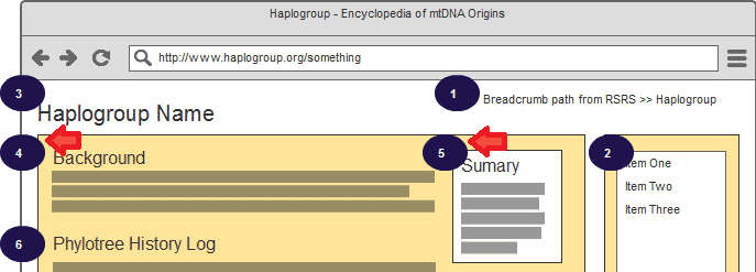 Encyclopedia of mtDNA Origins - Mockup 1b