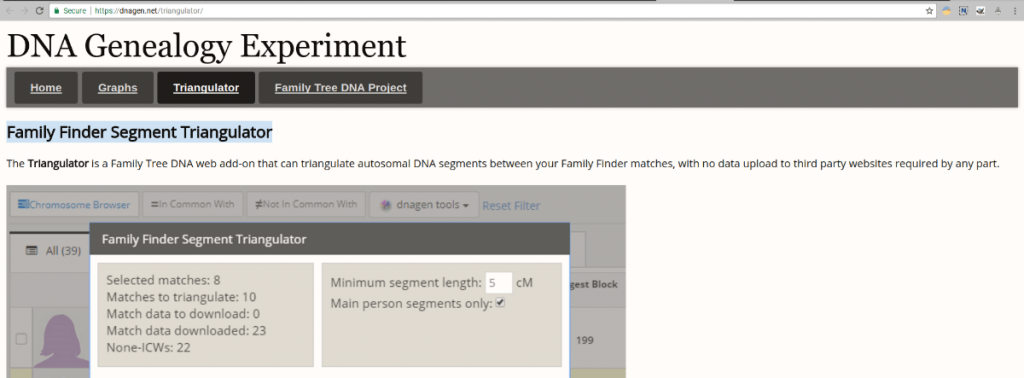 DNA Experiment Website