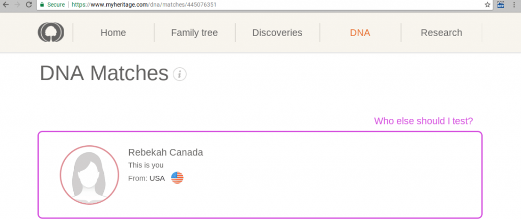 MyHeritage DNA Profile Selection